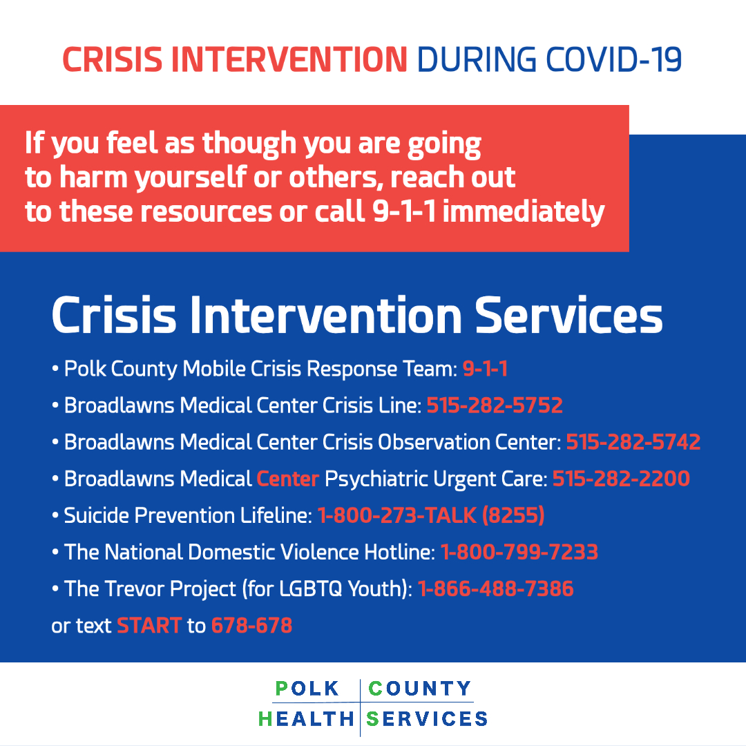 Crisis Intervention Phone Numbers